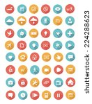 flat icons vector set with long ... | Shutterstock .eps vector #224288623