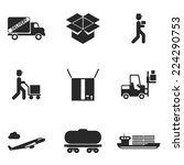 delivery icons set modern... | Shutterstock .eps vector #224290753