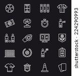 soccer football icons  | Shutterstock .eps vector #224290993