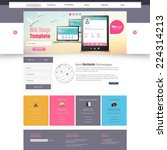 website template for smart... | Shutterstock .eps vector #224314213