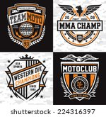 sports insignia emblem set | Shutterstock .eps vector #224316397