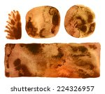 set of brown ink backdrops | Shutterstock . vector #224326957