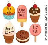 set of valentine's day  card  ...   Shutterstock .eps vector #224366017