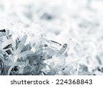 heap of white shredded papers | Shutterstock . vector #224368843
