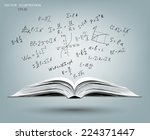 an open book with a gray cover. ... | Shutterstock .eps vector #224371447