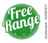 free range grunge rubber stamp