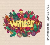 winter background. vector... | Shutterstock .eps vector #224387713