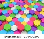 hexagon texture | Shutterstock . vector #224402293