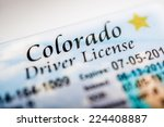 colorado driver license closeup ... | Shutterstock . vector #224408887