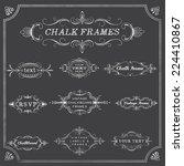 chalkboard frames   chalk style ... | Shutterstock .eps vector #224410867