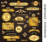 vintage design elements golden... | Shutterstock .eps vector #224414833