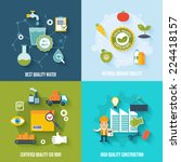 quality control flat icons set... | Shutterstock .eps vector #224418157