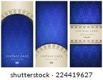 set of ornate cards in... | Shutterstock .eps vector #224419627