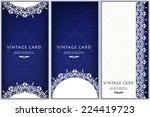 set of ornate cards in... | Shutterstock .eps vector #224419723