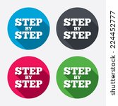 step by step sign icon.... | Shutterstock .eps vector #224452777