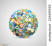 set of icons. vector... | Shutterstock .eps vector #224459533