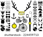 set of hipster icons. vector... | Shutterstock .eps vector #224459713