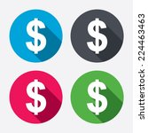 dollars sign icon. usd currency ... | Shutterstock .eps vector #224463463