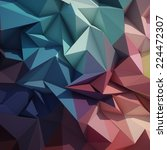 abstract geometric low poly... | Shutterstock . vector #224472307