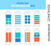 wireframe mobile app ui kit 8....