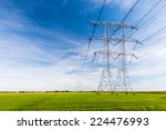 high voltage lines and power... | Shutterstock . vector #224476993