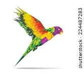 bird vector abstract geometric...   Shutterstock .eps vector #224487283