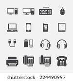computer icon | Shutterstock .eps vector #224490997
