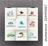 collection of vector logo...   Shutterstock .eps vector #224493067
