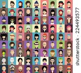 collection of avatars1    81... | Shutterstock .eps vector #224493577