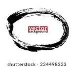 black ink  oval shape   hand... | Shutterstock .eps vector #224498323