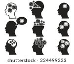 head with gears icon set | Shutterstock .eps vector #224499223