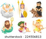 greek gods from ancient greece... | Shutterstock .eps vector #224506813
