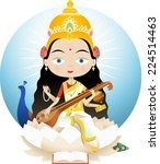 saraswati in hinduism is the... | Shutterstock .eps vector #224514463