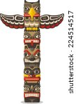 totem being object symbol... | Shutterstock .eps vector #224514517