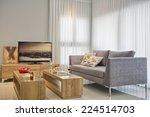 luxury modern living room | Shutterstock . vector #224514703