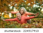 beautiful caucasian elder ... | Shutterstock . vector #224517913