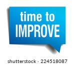 time to improve blue 3d... | Shutterstock .eps vector #224518087