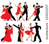 set of dancing people... | Shutterstock .eps vector #224522257