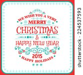 christmas card ornament... | Shutterstock .eps vector #224537593