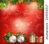 christmas illustration with... | Shutterstock .eps vector #224553517