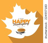 flat leaf and pie thanksgiving... | Shutterstock . vector #224557183