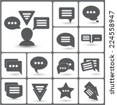 set of speech bubble icons for...