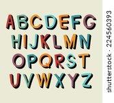 colorful cartoon alphabet....   Shutterstock .eps vector #224560393