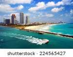 aerial view of south miami... | Shutterstock . vector #224565427