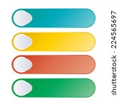 set of web buttons | Shutterstock .eps vector #224565697