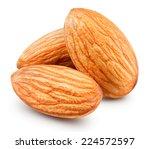 almonds nuts isolated clipping... | Shutterstock . vector #224572597
