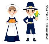 two cute little children in... | Shutterstock .eps vector #224575927