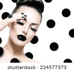 beauty vogue style fashion...   Shutterstock . vector #224577373