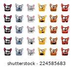 cats emoticons   vector... | Shutterstock .eps vector #224585683