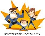 superhero family team ready to... | Shutterstock .eps vector #224587747